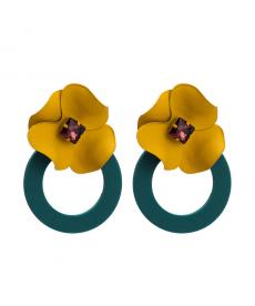 Bohemia Çiçek Küpe El Yapımı Renkli Yaz küpeleri 6 Cm