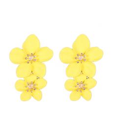 Sarı Çiçek Küpe 5 Cm Yaz Takıları