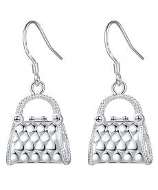 Çanta Küpe Gümüş Kaplama Sevgiliye Hediye