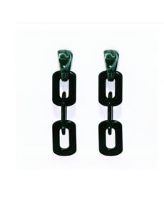 Yeşil Akrilik Zincir Uzun Küpe 9 cm
