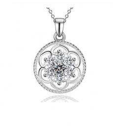 Beyaz 925 Gümüş Kaplama Kolye En Güzel Hediyeler