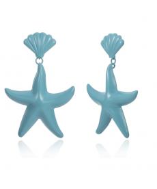 Deniz Mavi Deniz Yıldızı Küpe Moda 2019