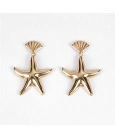 Deniz Yıldızı Küpe Altın Renk