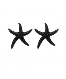 Deniz Yıldızı Küpe Siyah Moda 2020 Küpe Modelleri