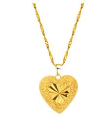Kalp Kolye Altın Renk Sevgiliye Hediyeler