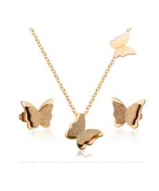 Kelebek Küpe Kolye Set En Güzel Hediyeler