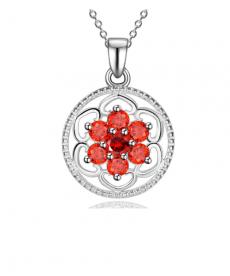 Kırmızı 925 Gümüş Kaplama Kolye Sevgiliye Hediyeler