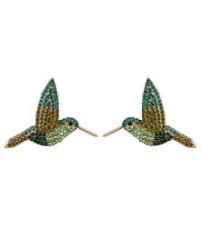 Kuş Küpe Renkli Taşlar Güzel Küpe Modelleri
