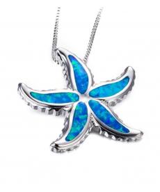 Mavi Deniz Yıldızı Kolye 1 Cm