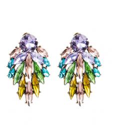 Renkli Kristal Taşlı Küpe Modelleri 2020