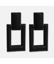 Siyah Geometrik Küpe 5 Cm