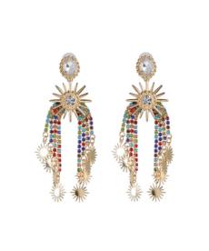 Vintage Etnik Büyük Kristal Küpe Moda 2020 Kadın Takıları