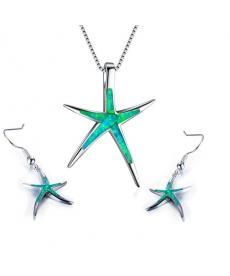 Yeni Sezon Deniz Yıldızı Kolye Küpe Takı Seti