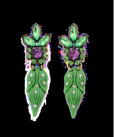Yeni Sezon Küpe Modelleri Moda 2020 Yaprak Yeşil Küpe