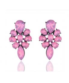 Yeni Sezon Opal Pembe Çiçek Küpe