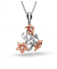 Yeni Tasarım Çiçek Kolye Sevgiliye Güzel Hediye