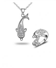 Yunus Takı Setleri Kolye ve Yüzük Gümüş Renk
