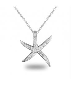 Deniz Yıldızı Kolye Gümüş Kaplama