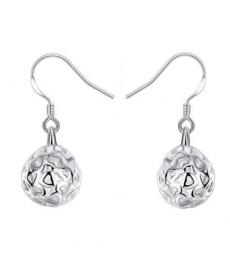 Gümüş Kaplama Top Küpe Kadın Takı Aksesuarlar