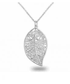 Gümüş Kaplama Yaprak Kolye Ucuz Hediyeler