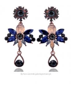 Abiye Küpe Kristal Taş Zarif Şık Küpe Moda 2019