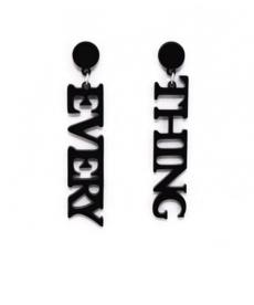 Every Thing Siyah Küpe Moda 2019 Akrilik Küpe