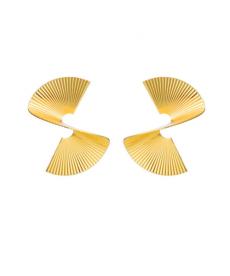 Geometrik Altın Renk Küpe