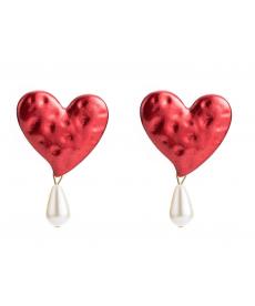 Kırmızı Kalp Küpe Sevgiliye En Güzel Hediyeler