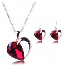 Kırmızı Kristal Kalp Romantik Stil 14 Şubat Hediyeleri