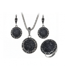 Siyah Takı Seti Güzel Hediyeler Kadın Kolye Setleri