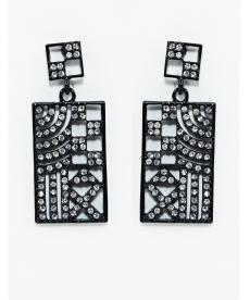 Yeni Sezon Moda Kare Küpe Kristal Taş Küpe Modelleri