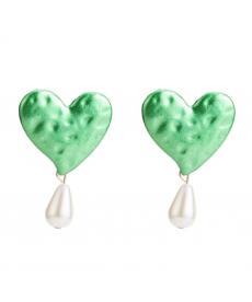 Yeşil Kalp Küpe Sevgiliye Değişik Hediyeler