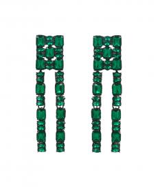 Yeşil Taşlı Uzun Abiye Küpe Yeni Model Taşlı Küpe Modelleri