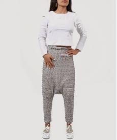 Etnik Desen Kırçıllı Şalvar Pantolon
