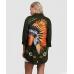 Haki Renk Sırt Kızılderili Baskılı Ceket