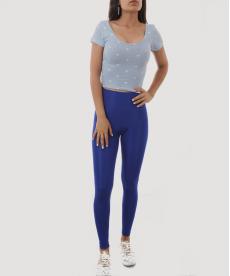 Mavi Beyaz Yıldızlı Kısa Kadın Body