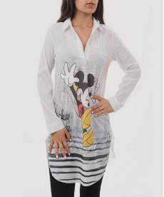 Mickey Mouse Baskılı Gömlek