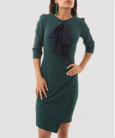 Yeşil Kadın Ofis Stili Elbise