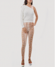 Yılan Piton Desenli Kadın Tayt