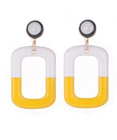 Beyaz Sarı Renk Küpe Etnik Bohem Uzun Sallantılı Küpe Modelleri