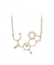 Dna Molekül Kolye Altın Renk Sevgiliye Ucuz Hediyeler