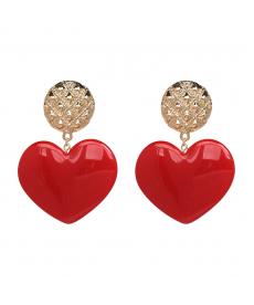 Kırmızı Kalp Küpe Kadınlar için Şık Zarif Kalp Küpe Çeşitleri Ve Fiyatları