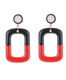 Siyah Kırmızı Etnik Bohem Uzun Küpe Modelleri
