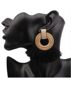 Siyah Püskül Küpe Büyük Siyah Abiye Küpe 2018 Moda Takılar