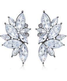 Yeni Moda Takılar Beyaz Taşlı Küpe Arkadaşa Hediye Küpe Çeşitleri