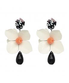 Yeni Model Beyaz Çiçek Küpe Bohemian Çiçek Büyük Şık Küpe