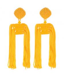 Yeni Model Trendy Sarı Püskül Küpe Moda Bayan Takı Aksesuarları