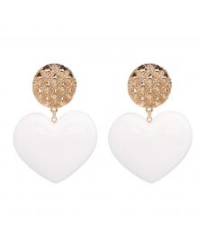 Yeni Sezon Beyaz Kalp Küpe Modelleri 2018