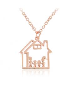 Anne Baba Çoçuklar Ev Kolye Anneler Günü Hediyeleri