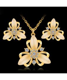 Avusturya Kristal Opal Takı Setleri 2019 Moda 18k Altın Kaplama Güzel Hediyeler